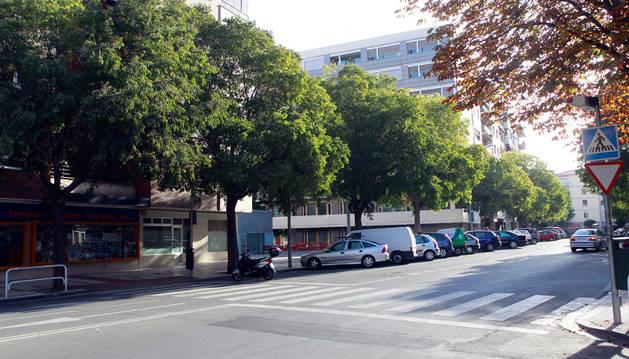 Vista general de la calle Serafín Olave.