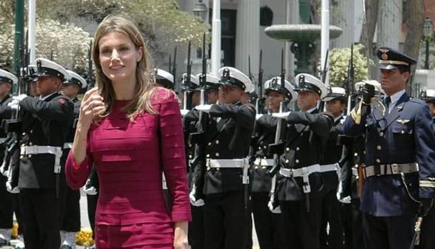 Doña Letizia, en Perú en 2009.