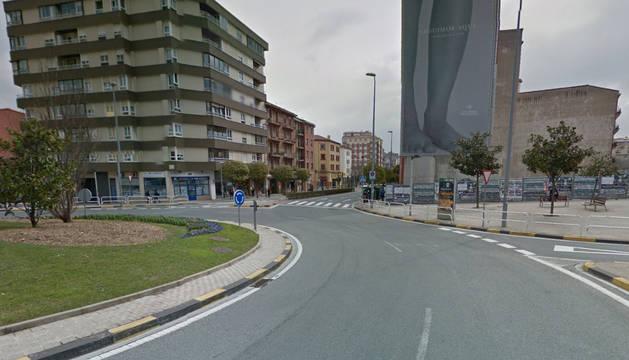 Avenida de Zaragoza de Pamplona, lugar del suceso.