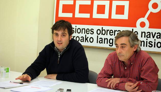 Daniel Hernández y Cecilio Aperte en una rueda de prensa.