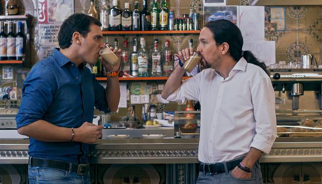 Rivera e Iglesias se toman un café con leche en el programa de Jordi Évole.
