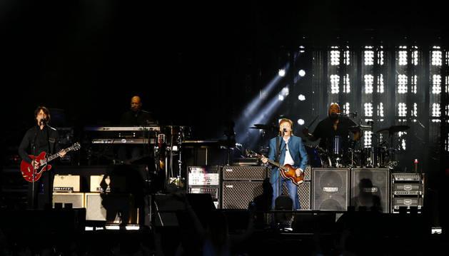 Paul McCartney, durante un concierto en el estadio Vicente Calderón.