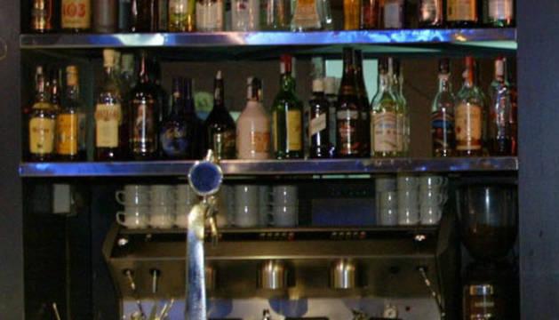 Barra de un bar.