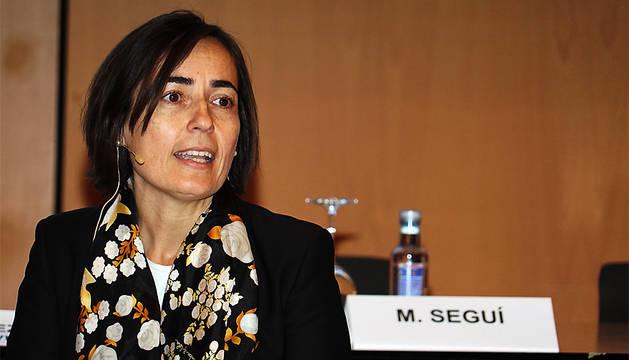 La directora general de la DGT, María Seguí, durante el congreso.