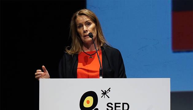 Theresa Zabell, durante su intervención.