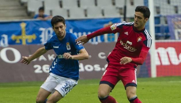Mikel Merino, contra el Oviedo.