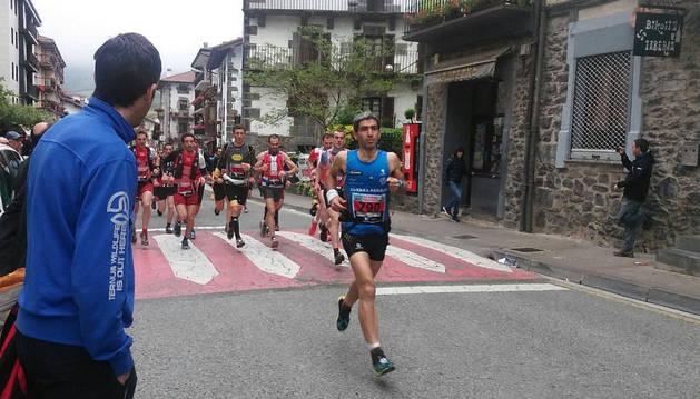 Leitza acogió la salida y la llegada de la exigente carrera de montaña.