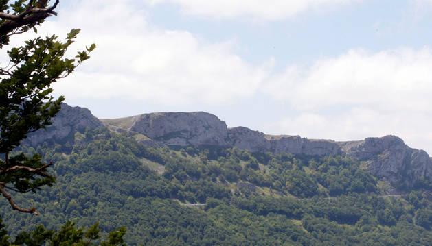 Imagen de la sierra de Urbasa, lugar donde se ha rescatado al montañero.