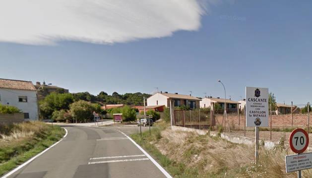 Entrada a la localidad de Cascante.