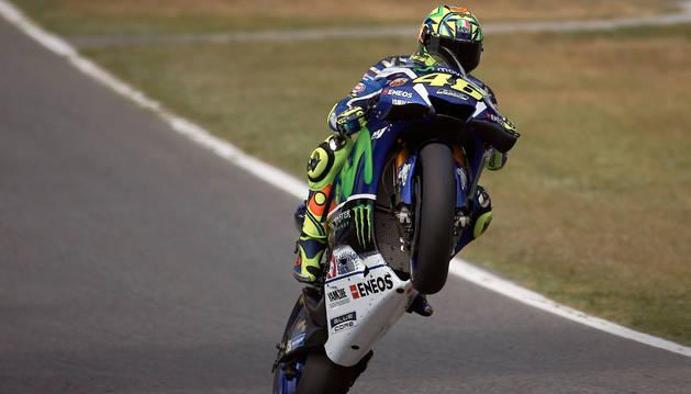 El piloto italiano de MotoGP Valentino Rossi.