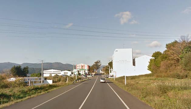 Entrada a la localidad de Ortigueira.