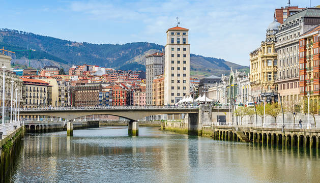 La ría de Bilbao.