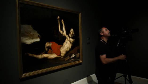 Vista de la obra 'San Jerónimo Penitente', del pintor español José de Ribera, perteneciente a la exposición 'De Caravaggio a Bernini'.