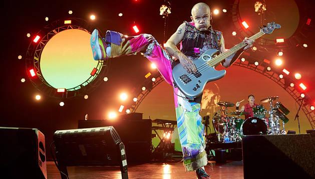 Flea, bajista de Red Hot Chili Peppers.