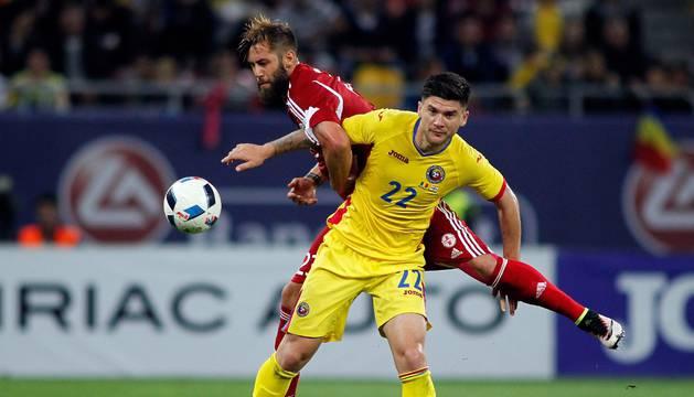 Cristian Sapunaru, en un amistoso contra Georgia.