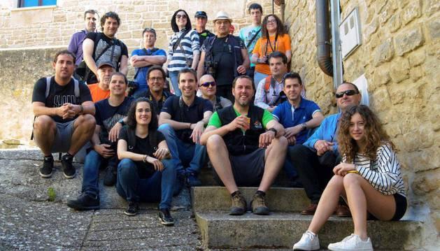Participantes en el II Rally fotográfico del XVIII Día del Rosado.