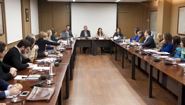 Una reunión anterior del Consejo Navarro de Bienestar Social.