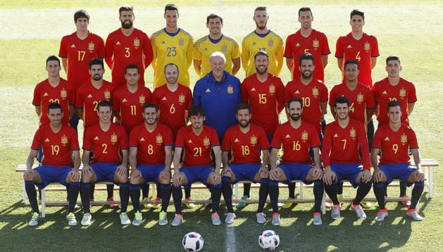 La selección española para la Eurocopa, al completo.