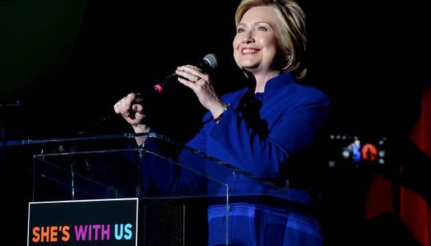 Hilary Clinton, el lunes en un acto de la campaña.