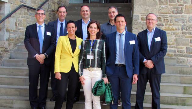 Miembros de la junta de AEDIPE Navarra