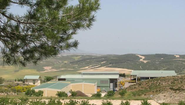 Vista general de las instalaciones que Mancomunidad de Montejurra gestiona en Cárcar.