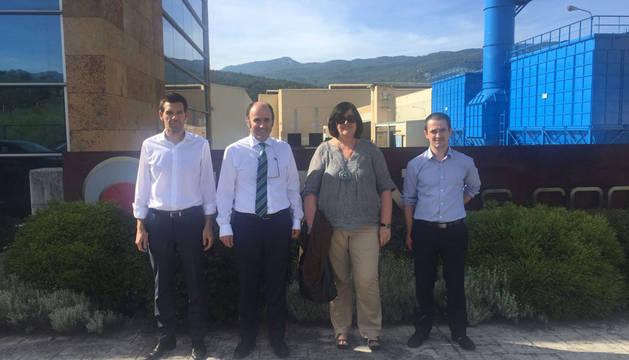 Zigor Bastida, Manu Ayerdi, Pilar Irigoien y Xabier Goenaga
