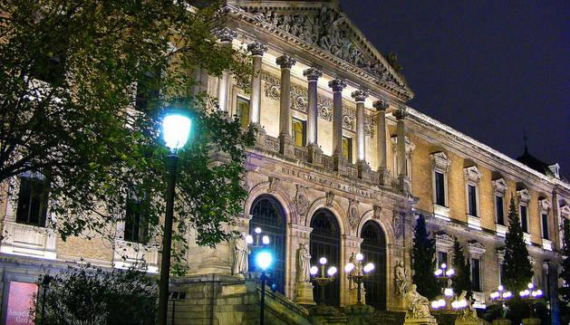 Imagen de la fachada de la Biblioteca Nacional.