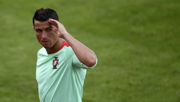 Cristiano Ronaldo, con Portugal.