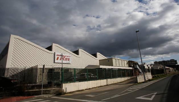 Parte trasera de las instalaciones de TRW en Landaben.
