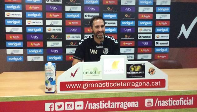 Vicente Moreno, en rueda de prensa.