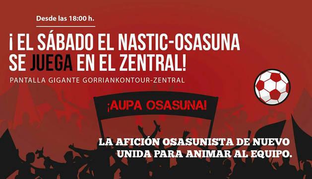 Gorriak On Tour presenta su programa para ver a Osasuna en el Zentral