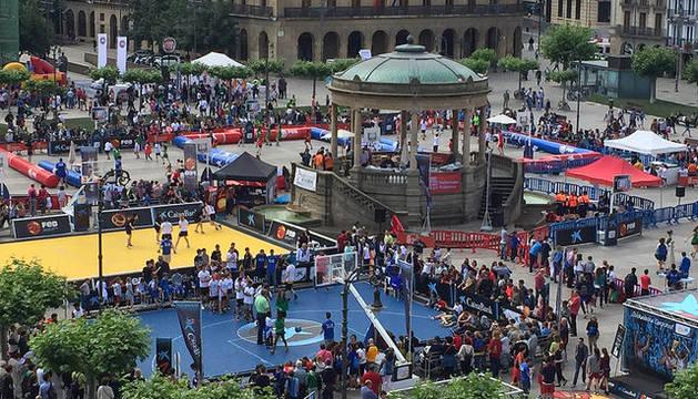 Imagen de la Plaza del Castillo, este sábado.