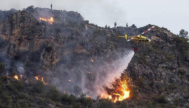 Imagen del incendio de Calasparra, Murcia.