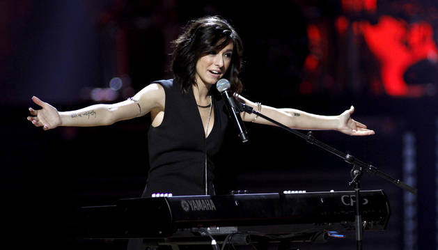 La cantante Christina Grimmie, en un concierto en Las Vegas.