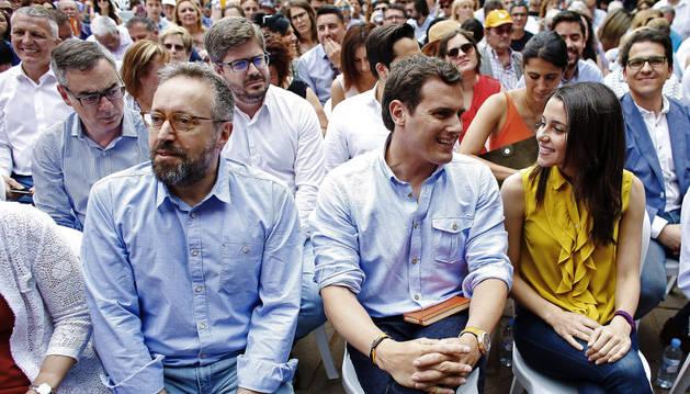 Imagen del mitin de Ciudadanos celebrado este sábado en Barcelona.
