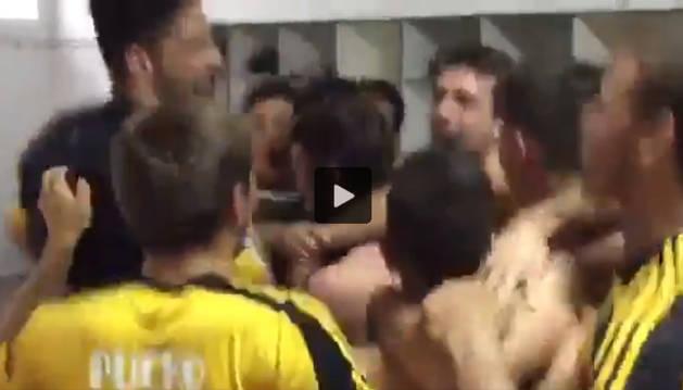 Así celebró Osasuna su pase a la final del 'playoff'