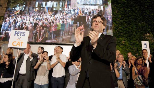 El presidente de la Generalitat y candidato por el CDC, Carles Puigdemont.