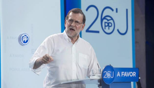 El presidente del Gobierno en funciones y presidente del PP, Mariano Rajoy.