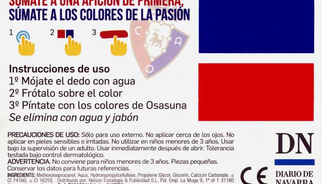 Así son las tarjetas de maquillaje que repartirá Diario de Navarra.