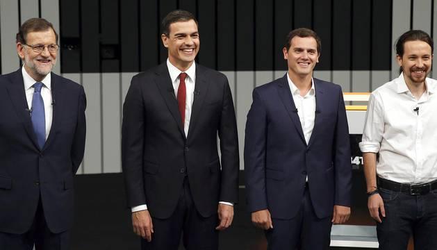 Debate de los cuatro candidatos a ocupar la Moncloa