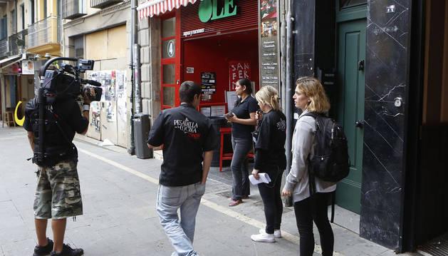 Alberto Chicote rueda en el restaurante Olé de Pamplona 'Pesadilla en la cocina'