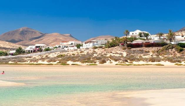 Una playa de Fuerteventura.