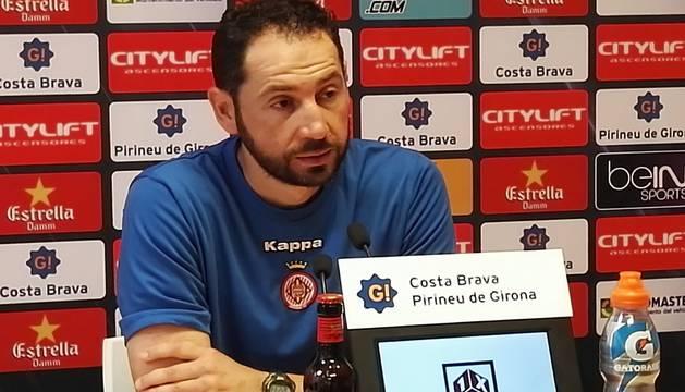 Pablo Machín, técnico del Girona.