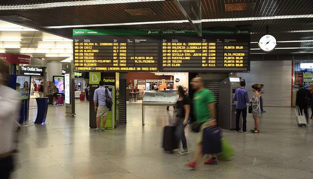Estación de Atocha, en Madrid.