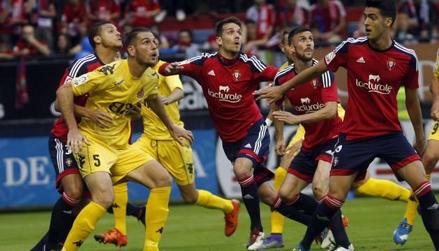 Imágenes del partido disputado este miércoles en El Sadar.
