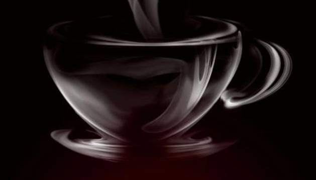 Una taza humeante.