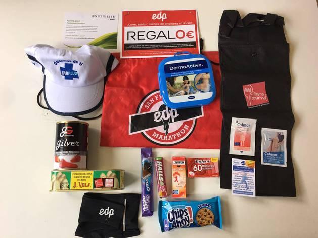 Bolsa del corredor que recibirán tras cruzar la meta los maratonianos.