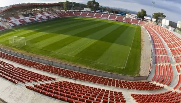 Una toma panorámica del estadio de Montilivi, con capacidad para 9.200 espectadores.