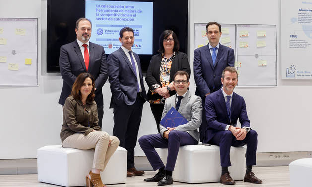 Roberto Lanaspa, Miguel Ángel Royo, Pilar Irigoien, Alberto Cominges, Silvia Ibáñez, Óscar Fernández y Ferran Verdejo