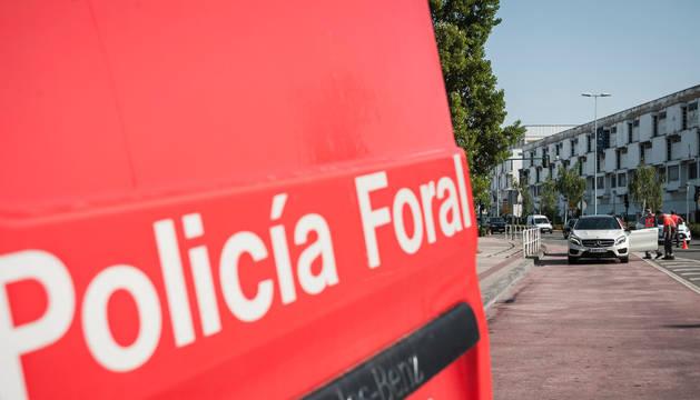 Una patrulla de la Policía Foral, que ha participado en la desarticulación del grupo.